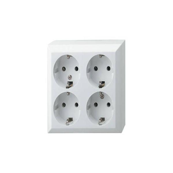 Priza de retea cu impamantare, 230V, 4 socluri, IP20, de interior, Home [0]