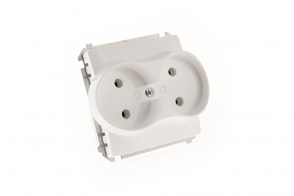 Priza dubla modulara  fara impamantare gama basic modul   kontakt [0]