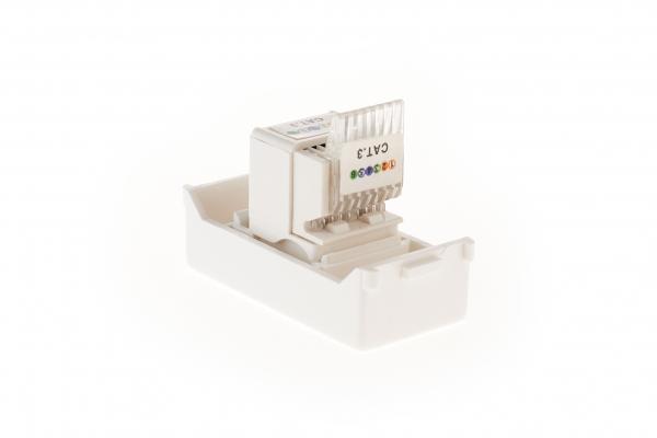 Priza telefon RJ11 modulara,1M,alb MASTER [3]