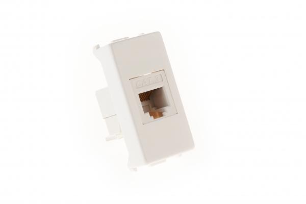 Priza telefon RJ11 modulara,1M,alb MASTER [0]