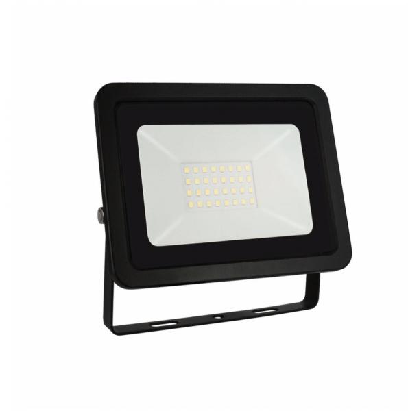 Proiector led 30 w , 2700lm ,lumina rece ( 6000 k ), ip 65 , clasa A++,carcasa aluminiu neagra [0]