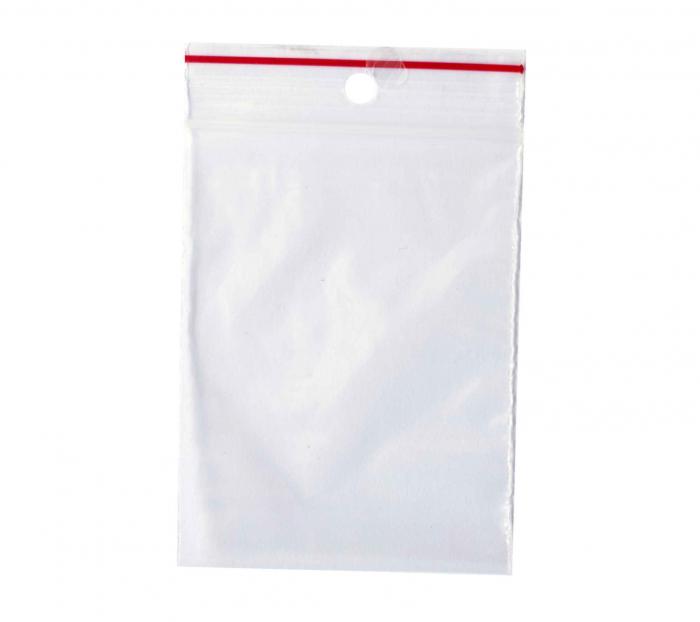 Pungi cu Fermoar, 100 bucati, transparente cu sistem de resigilare ziplock, 70 x110 mm [1]