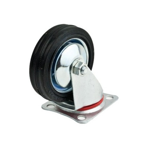 Roata furca pivotanta 125 x 34 mm , greutate maxima suportata 100 kg , greutate produs 1007 grame [1]