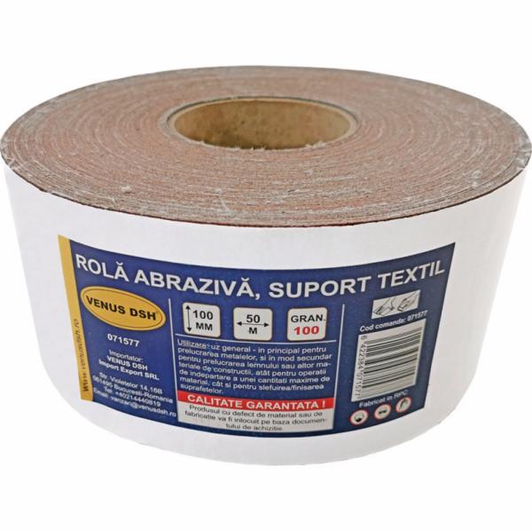 Rola abraziva, suport textil, 100 (100 mm x 50 m) [0]