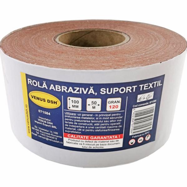Rola abraziva, suport textil, 120 (100 mm x 50 m) [0]