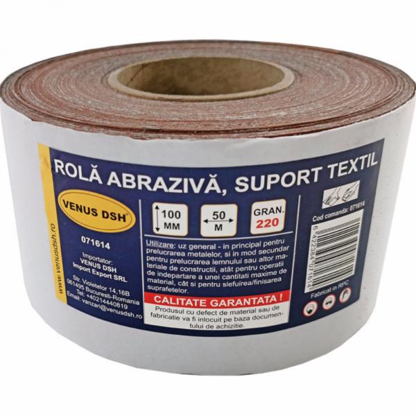 Rola abraziva, suport textil, 220 (100 mm x 50 m) [0]