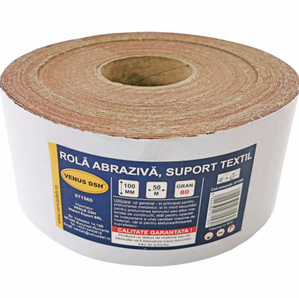 Rola abraziva, suport textil, 80 (100 mm x 50 m) [0]