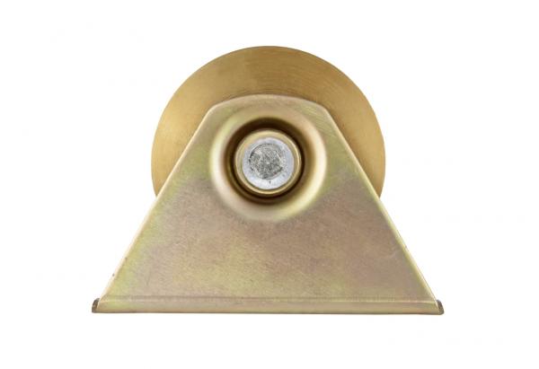 Rola poarta din otel zincat, 100 mm cu suport [0]
