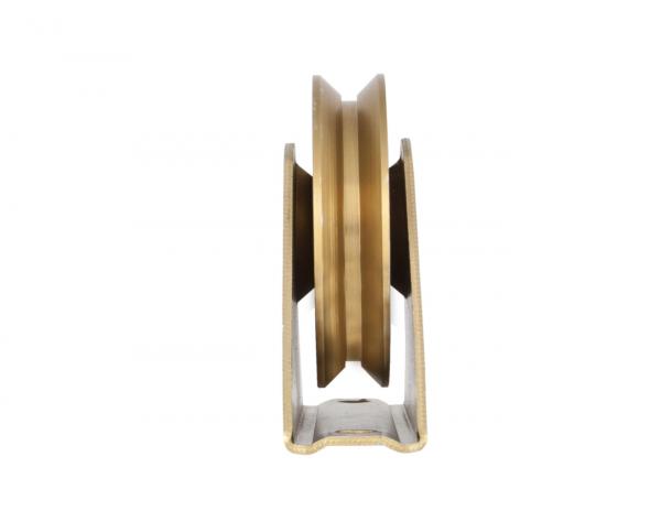 Rola poarta din otel zincat, 100 mm cu suport [1]
