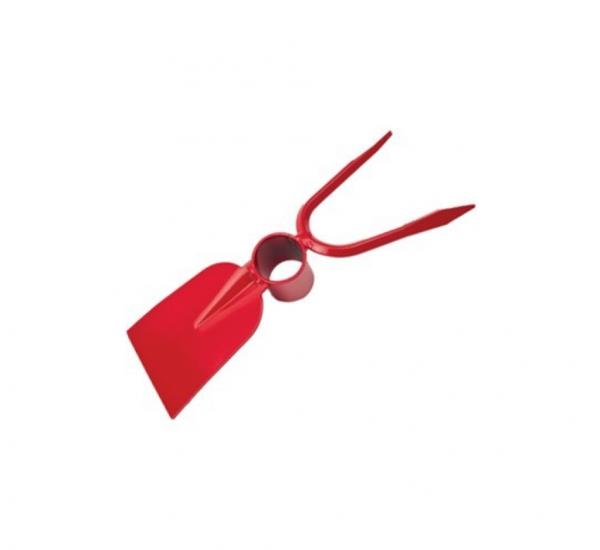Sapaliga cu furcheta din otel vopsit rosu , dimensiune 260 x 90 x 40 mm [1]