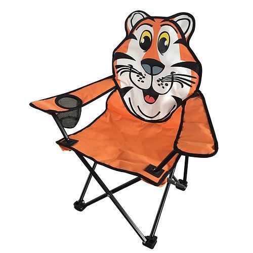 Scaun pliabil gradina, camping, pescuit, pentru copii, model tigru, max 60 kg, 35x35x55 cm [0]