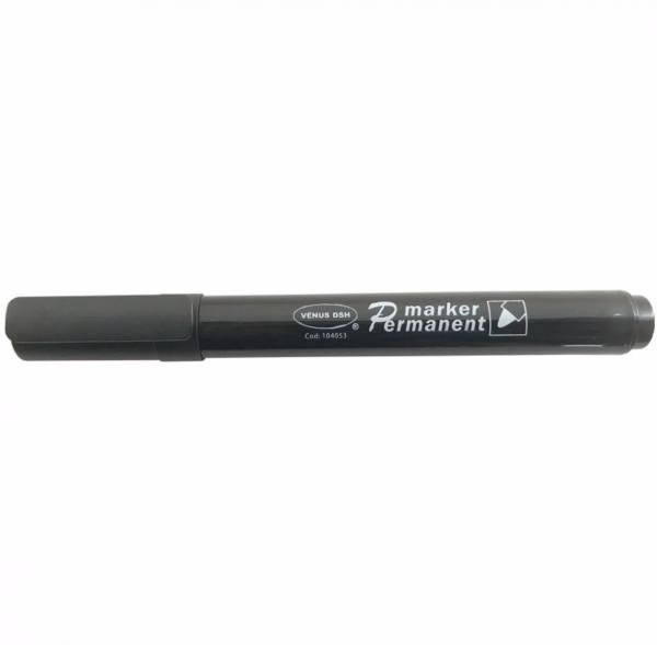 Set 12 markere negre, permanente cu grosimea varfului 2 mm [0]