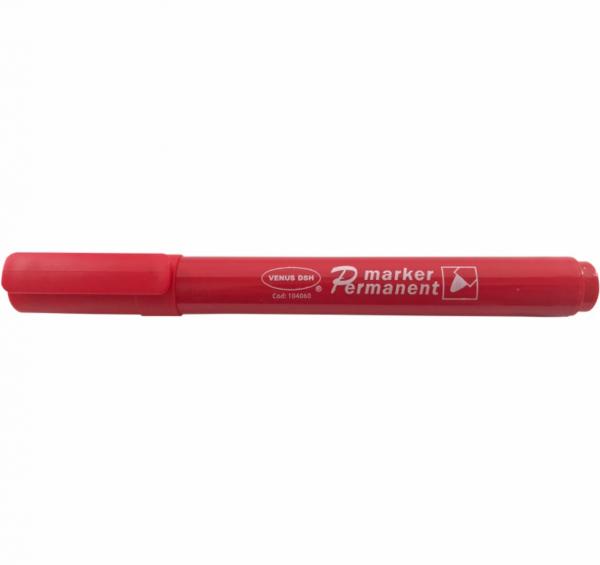 Set 12 markere rosii, permanente cu grosimea varfului 2 mm [0]