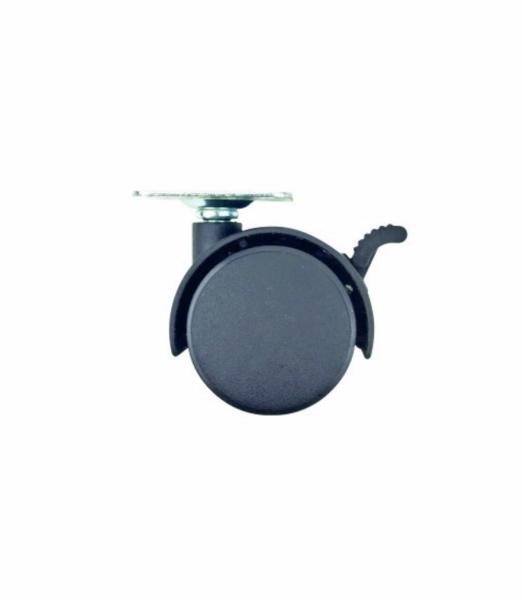Set 4 roti pentru mobila ,plate din plastic cu frana, 50 mm [0]