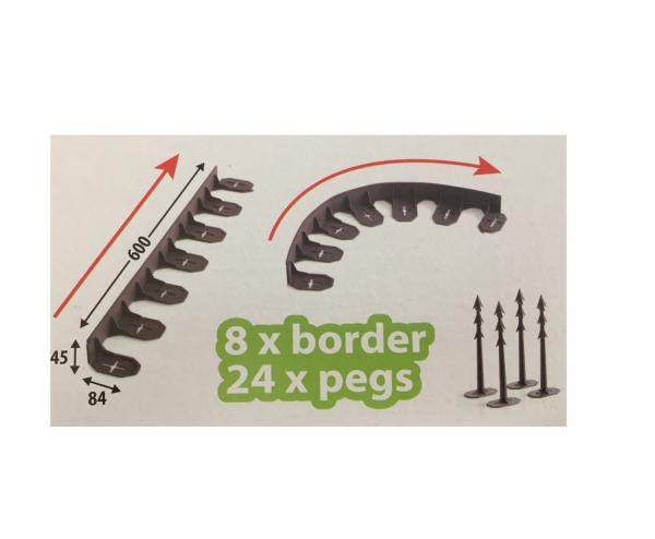 Set bordura pentru delimitare gradina Strend Pro Garden Border 0645, lungime totala 4.8 m [1]