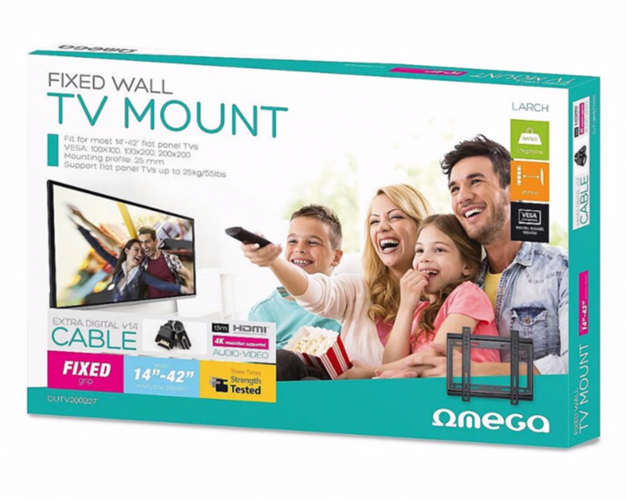 "Suport TV de perete Omega, fix, 14""-42"", 25 Kg, OUTV200B27 [1]"