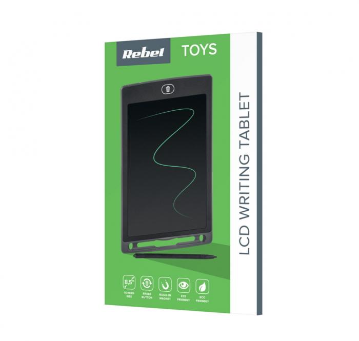Tableta grafica 8.5 inch cu stylus Rebel, Monocrom [1]