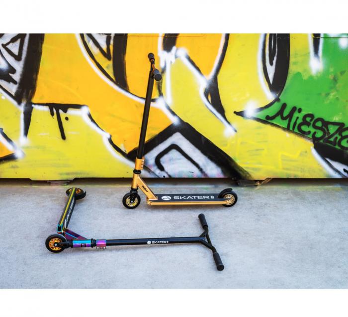 Trotineta Rebel SKATER PRO Gold pentru acrobatii [4]