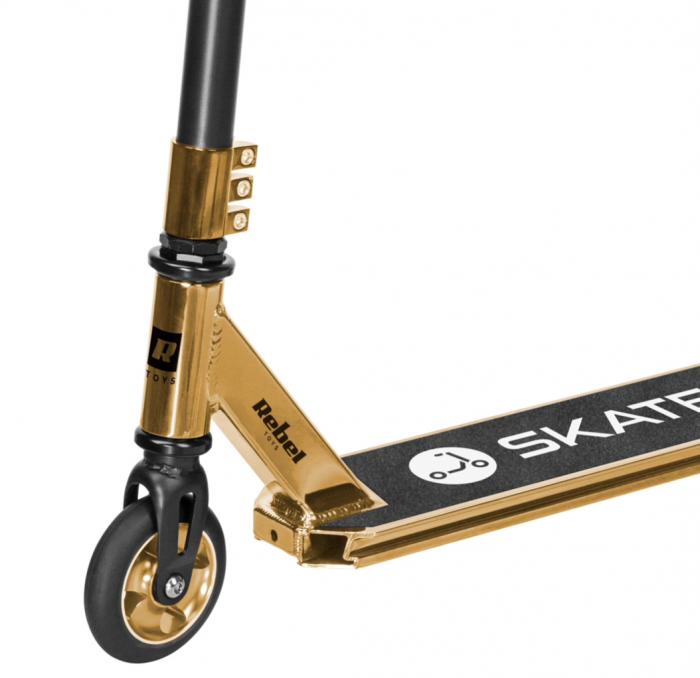 Trotineta Rebel SKATER PRO Gold pentru acrobatii [2]