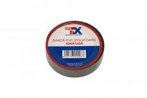 Banda izolatoare PVC ignifuga 19 mm x 20 M negru sau alb [0]