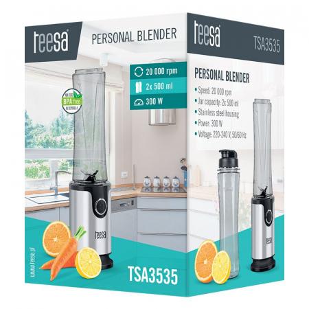 Blender pentru smoothie TEESA TSA3535, 2 cani, putere 300 W [4]