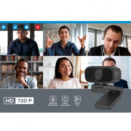 Camera Video WebCam Rebel HD 720P pentru PC sau Laptop [1]