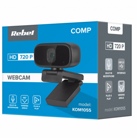 Camera Video WebCam Rebel HD 720P pentru PC sau Laptop [2]