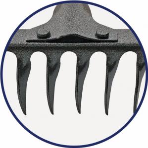 Grebla din otel vopsit negru cu 18 dinti rasuciti , latime 425 mm [1]