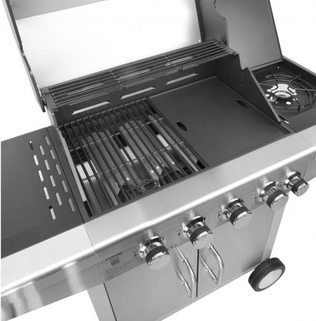 Grill gaz 5 arzatoare BBQ 5000 Master Grill Teesa argintiu [7]