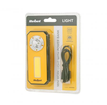 Lampa atelier mini 300 lm cu powerbank Rebel [1]