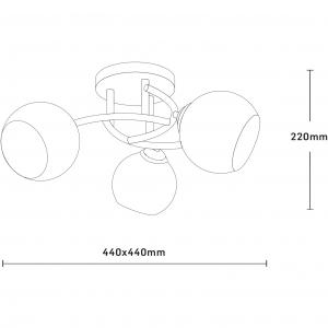 Lustra Ramona , E27 x 3 x 60w, Wenge, E23843 [1]