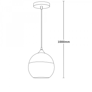 Pendul Edison , 1x60w, glob sticla transparent , bronz antichizat, FST29477 [1]
