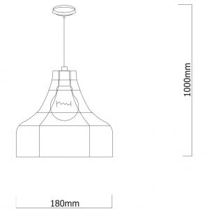 Pendul Franklin, 1 x E27 x 60W, EFST38547, negru [1]