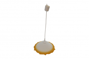 Pendul Szaffi , 1X E27, culoare sticla orange in degradeu, lungime cablu 1,2m [1]