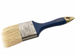 Pensula cu fir natural, maner din plastic albastru-auriu, 50 mm [0]