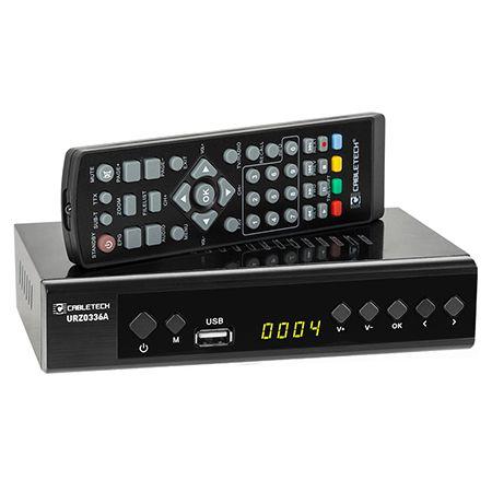 Receptor Digital Terestru TV Tuner DVB-T2 H.265 HEVC LAN USB Full HD Cabletech Receiver cu Telecomanda [0]