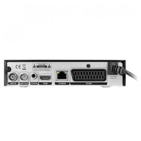Receptor Digital Terestru TV Tuner DVB-T2 H.265 HEVC LAN USB Full HD Cabletech Receiver cu Telecomanda [3]