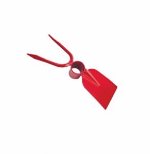 Sapaliga cu furcheta din otel vopsit rosu , dimensiune 260 x 90 x 40 mm [0]