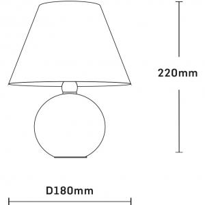 Veioza ceramica Esik negru [1]