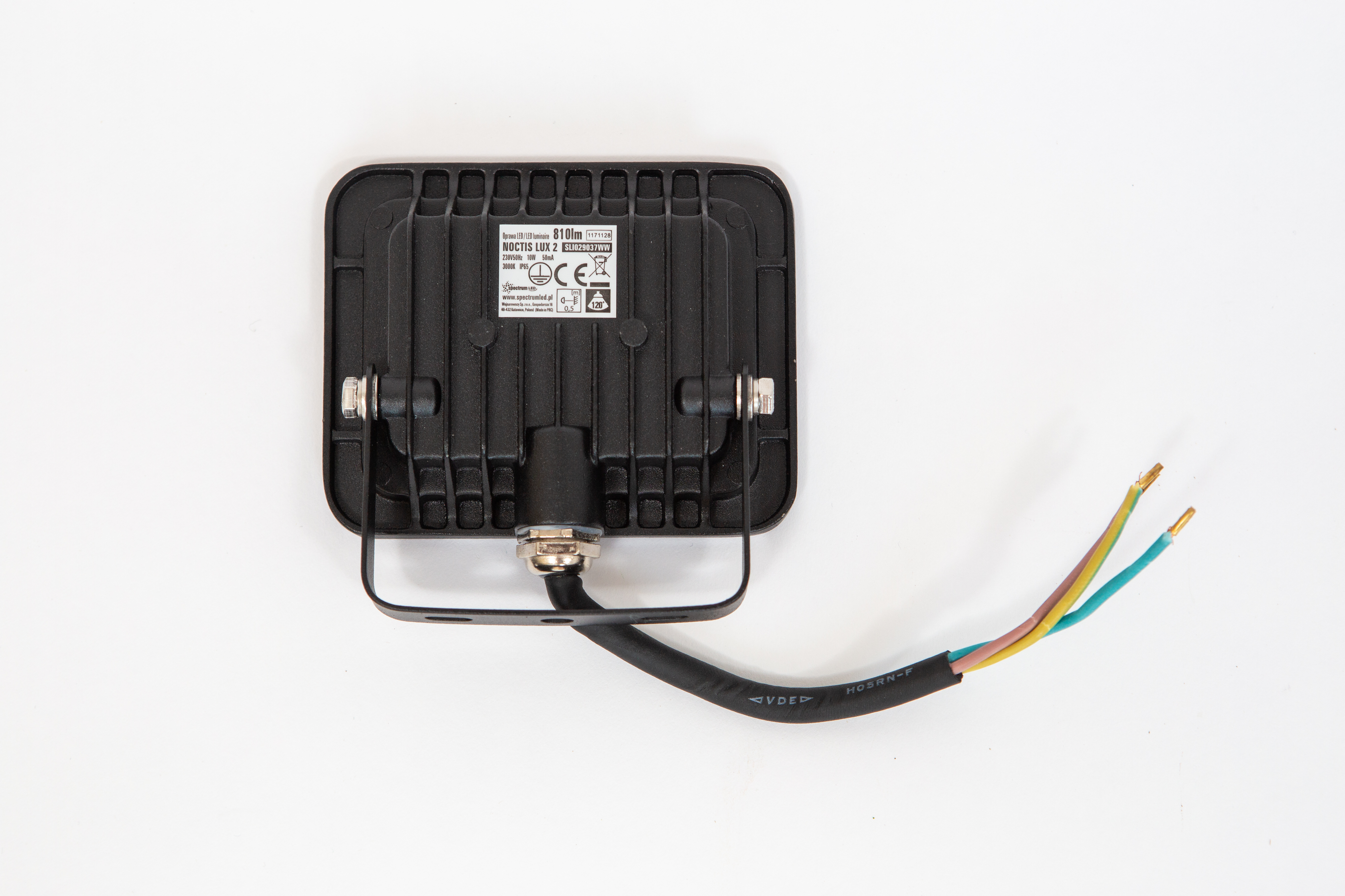 Proiector led 10 w lumina rece,810 lm, ( 6000 k ), IP 65 , 230 v,clasa a++,carcasa aluminiu negru [2]