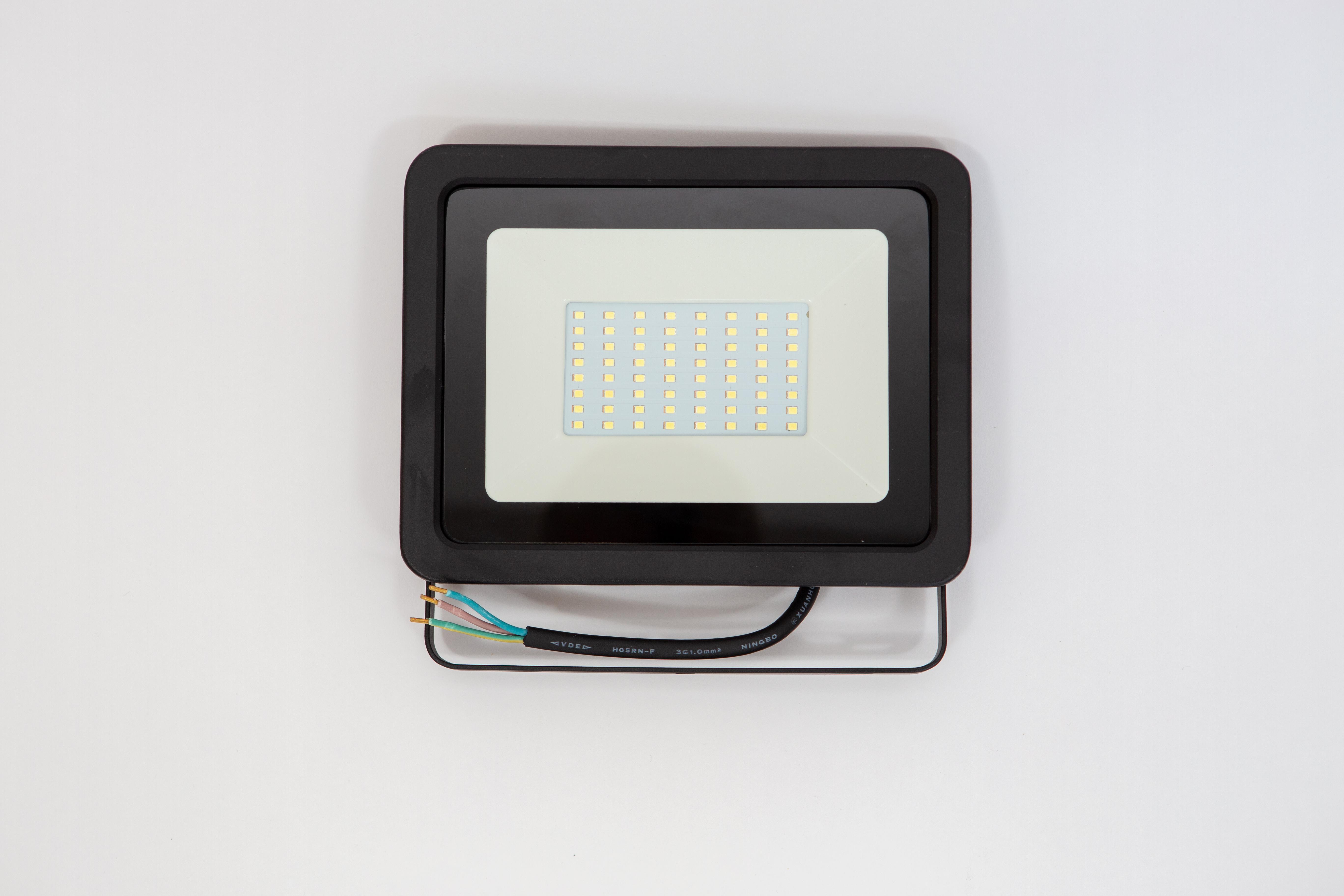 Proiector led 50W, lumina rece (6000 k ), ip 65 , clasa a++,carcasa aluminiu neagra [1]