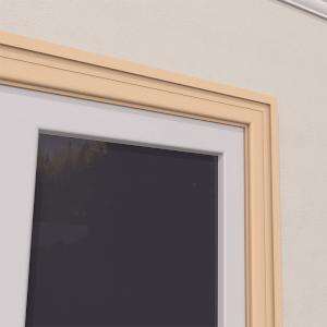 Ancadrament Fereastra pentru Exterior din Polistiren Expandat Laminat cu Rasina FP108, H 100 x L 38 mm, Lungime 2 m [3]