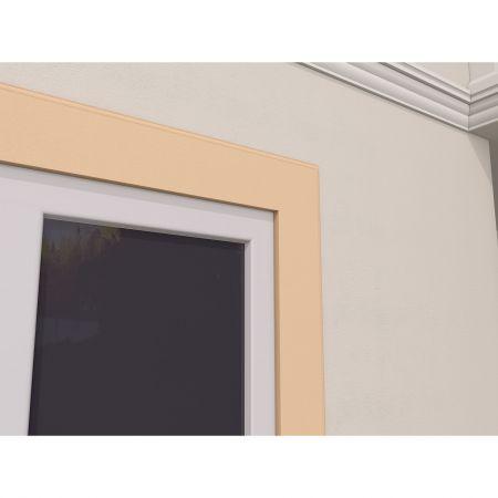 Ancadrament Fereastra pentru Exterior din Polistiren Expandat Laminat cu Rasina FP110, H 150 x L 25 mm, Lungime 2 m 3