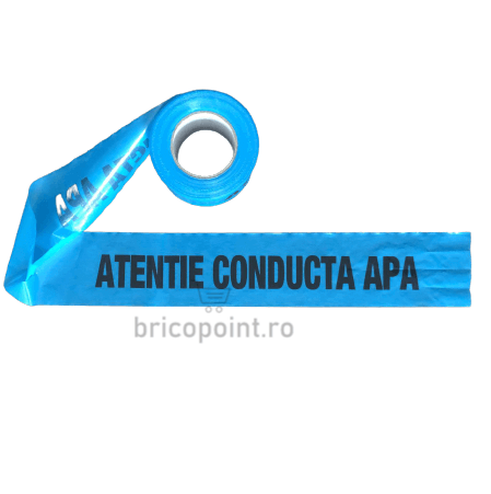 Banda de Semnalizare Albastra - Atentie Conducta Apa, 200m/rola [0]