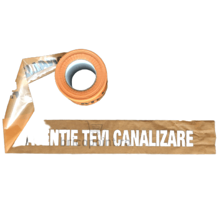Banda de Semnalizare - Atentie Tevi Canalizare, 200m/rola [1]
