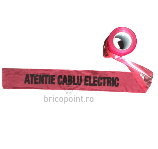 Banda de Semnalizare Rosie - Atentie Cablu Electric, 200m/rola [0]