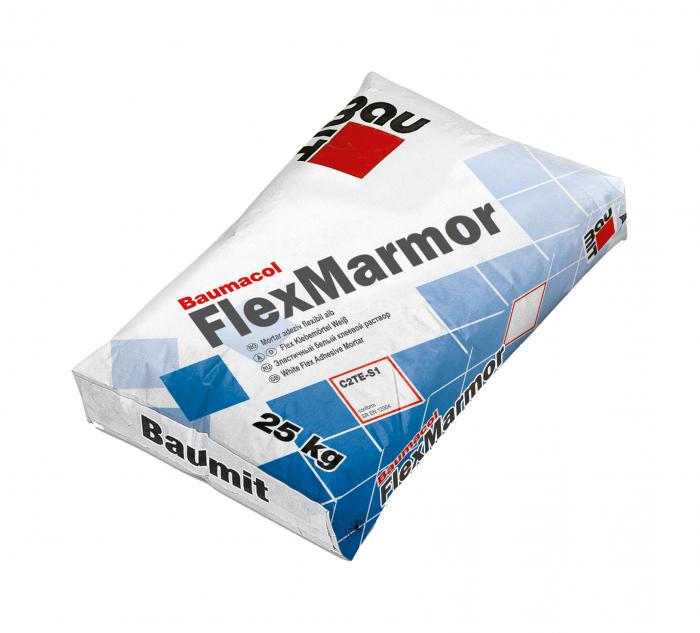 Baumit Baumacol FlexMarmor Mortar Adeziv Flexibil Alb 25kg 0