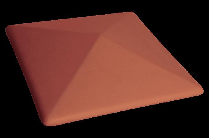 Capac Ceramic 01 Ruby Red Natural, pentru Stalpi de Gard [0]