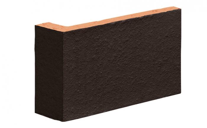 Coltar Ceramic Klinker 18 Volcanic Black / Negru 120/35 x 65 x 10 mm [0]