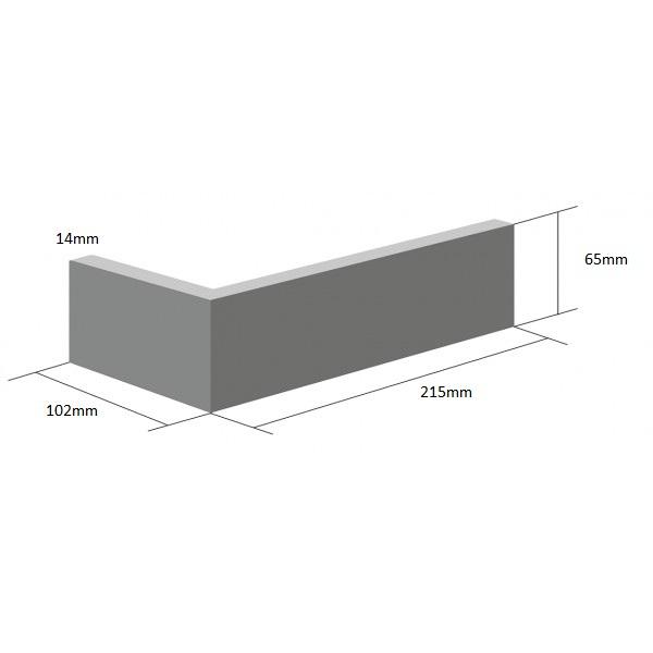 Coltar Ceramic Klinker Pelaris Mantis White 215/102 x 65 x 14 mm [0]